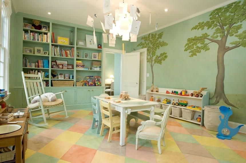 温馨可爱儿童书房装修效果图欣赏